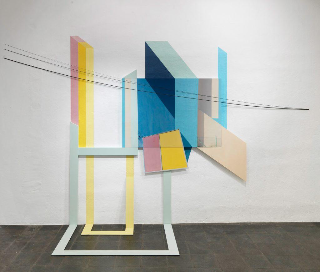 Johannes Kersting: 'Come together Extended', Installationsansicht Galerie Robert Drees, Hannover, Foto: Roland Schmidt
